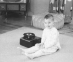 Bob at age two with record player