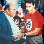 Willard Scott with Arnold Schwarzenegger