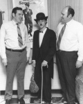 Ed and Willard with Charlie Chaplin actor