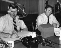 Ed and Willard in studio, WRC publicity shot #1