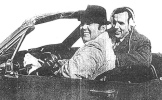 photo of Willard and Ed in a convertible